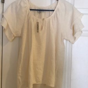 NWT Madewell Tiered Sleeve Ladies top small